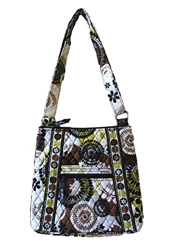 Vera Bradley Hipster in Cocoa Moss with Solid Black Interior