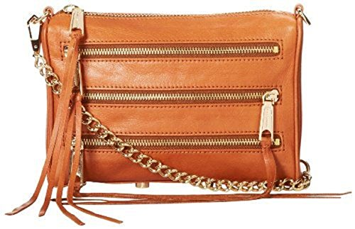 Rebecca Minkoff Mini 5-Zip Corssbody Bag, Tan