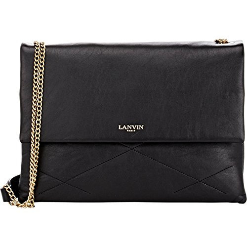 Lanvin Sugar Quilted Lambskin Shoulder Bag – Black