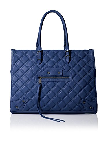 Steven Madden Women's Zinnia Quilted Tote, Blue