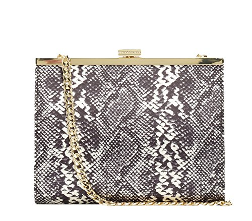 Juicy Couture Hollywood Hills Clutch Miniaudiere Bag, Black Snake
