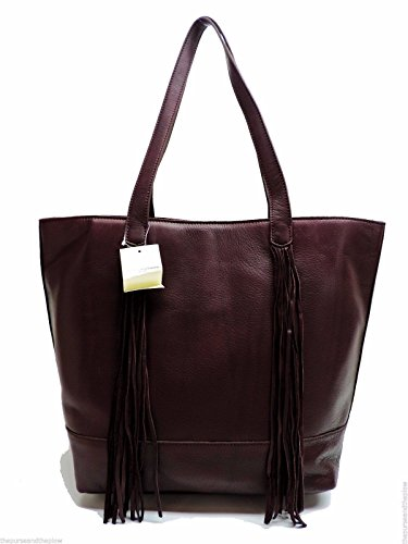 Lucky Brand The Route Tote Wine Leather Shoulder Handbag