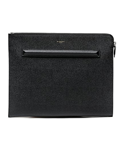 Wiberlux Givenchy Women's Zip Top Real Leather Clutch Bag