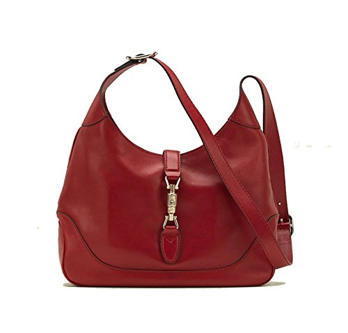 Gucci New Jackie Women's Shoulder Bag Handbag Red Leather 277520 Amkog