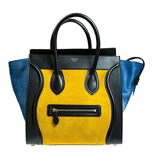 Celine Mini Luggage Handbag in Multicolour Pony Calfskin