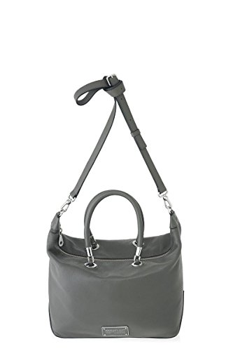 Marc Jacobs New Too Hot To Handle Top Zip Satchel in Faded Aluminum