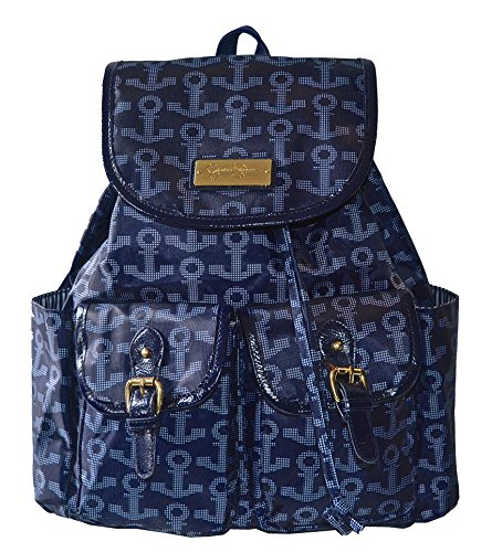Jessica Simpson Resort on the Go Backpack Tote Handbag Bag Purse Navy