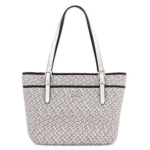 Eric Javits Women's Squishee Jav Handbag One Size (Silver Black)