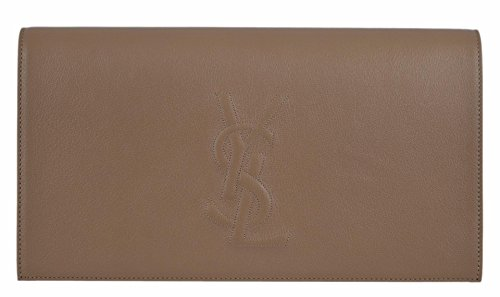 YSL Yves Saint Laurent Women's Beige Leather Large Belle de Jour Clutch