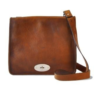 Pratesi Italian Leather Portalettere Large Womens Leather Shoulder Bag