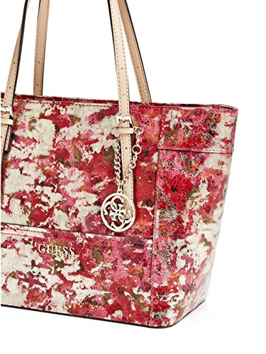 GUESS Women's Delaney Mixed-Metallic Small Classic Tote