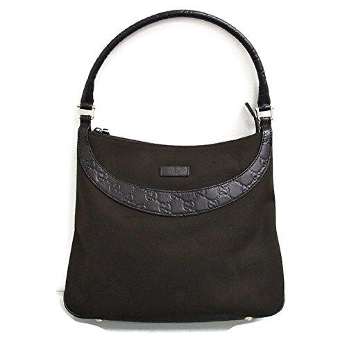 Gucci Browns Canvas Leather Guccissima Hobo Shoulder Bag Handbag 279152