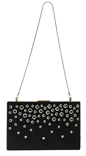 Kate Spade Salinas Place Emanuelle Evening Formal Handbag Clutch Purse in Black (001)