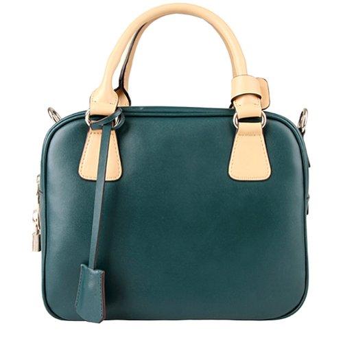Fineplus Women's Contrast Colors Shoulder Bag Invisible Green
