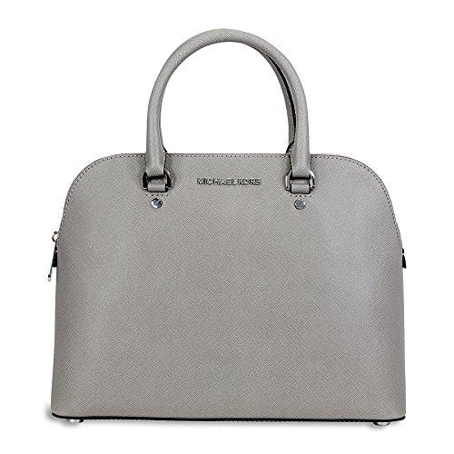 Michael Kors Cindy Large Saffiano Leather Satchel – Pearl Grey