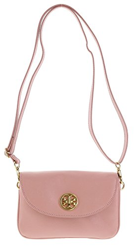 Tory Burch Robinson Saffiano Leather Crossbody Bag and Clutch in Rose Sachet