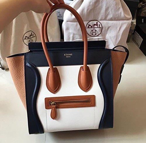 High Quality Women's Ladies Designer Leather Style Celebrity Tote Bag Smile Shoulder Handbag