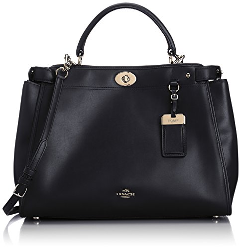 Coach Gramercy Leather Satchel 33549, Black, One Size