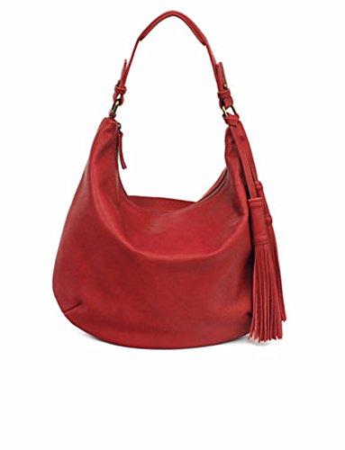 Lucky Brand Jordan Leather Hobo Bag Ruby Red