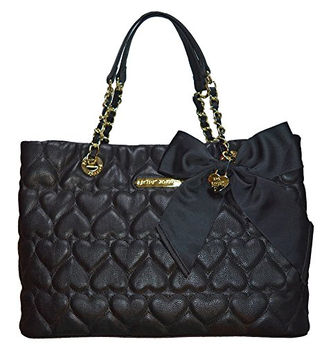 Betsey Johnson Bag Be Mine Shopper Tote Purse Handbag Black