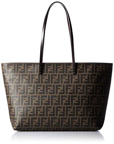 FENDI Zucca pattern 8BH185-00G87 / F0QT2 Leather Tote Bag