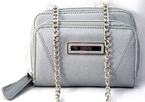 Kenneth Cole Reaction Tech Device Wallet on a Chain- Shimmer Grey