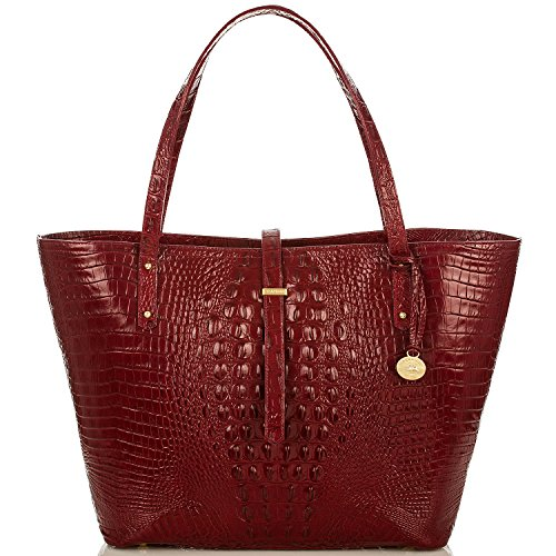NEW AUTHENTIC BRAHMIN ALL DAY LARGE CARRYALL TRAVEL TOTE (Carmine Red Melbourne)