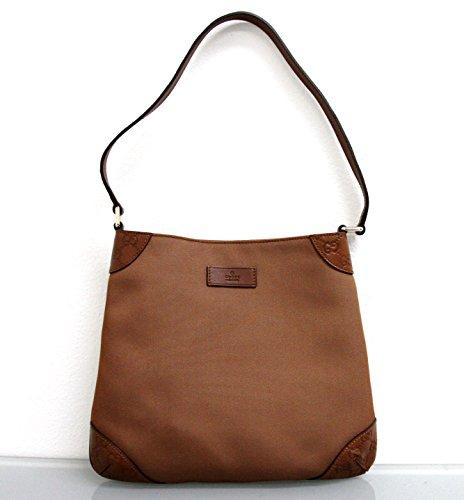 Gucci Brown Leather Guccissima Hobo Shoulder Bag 248272 8567