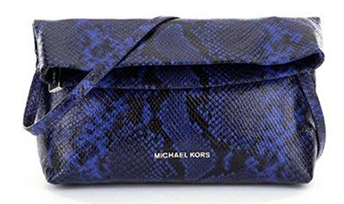 Michael Kors Daria Fold Over Clutch Electric Blue