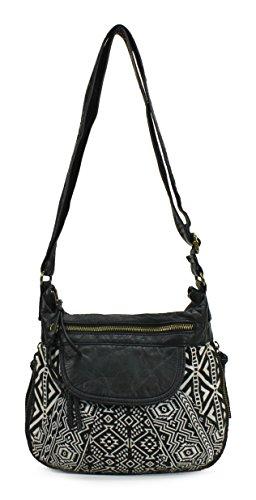 Scarleton Half Pattern Crossbody Bag H1760