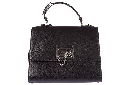 Dolce&Gabbana women's leather handbag shopping bag purse print big black