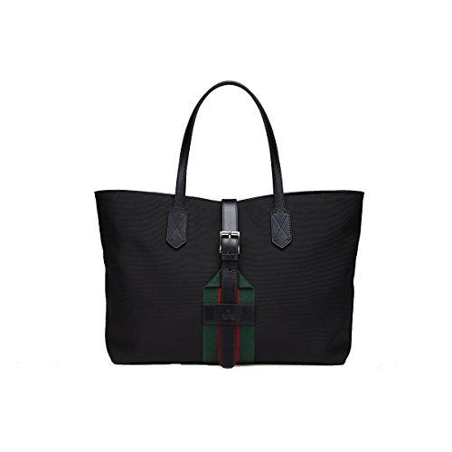 Gucci Black Techno Canvas Tote Bag, 337070