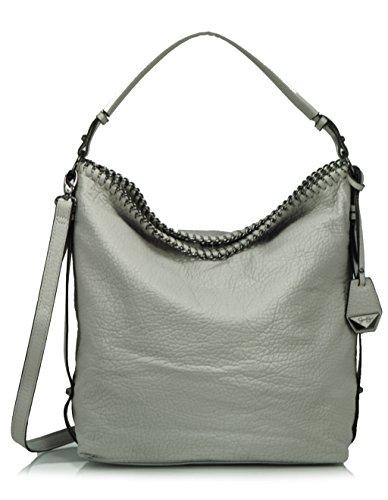 Jessica Simpson Lizzie Cross Body Hobo Shoulder Bag, Grey