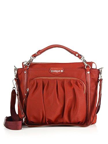Mz Wallace Nikki Bedford Nylon Tote Handbag Red New