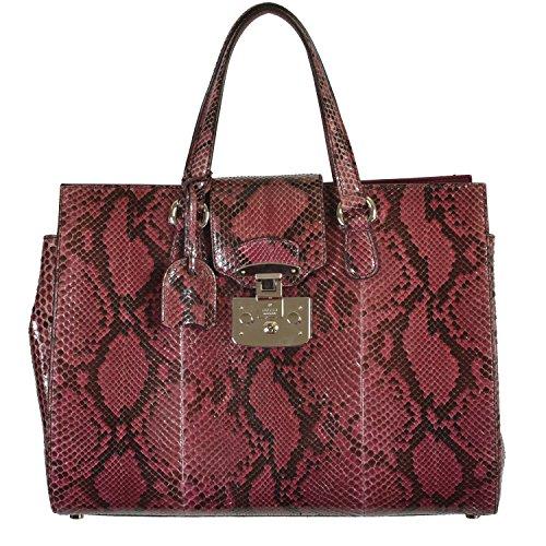 Gucci Women's Vine Red Python Skin Handbag Shoulder Bag