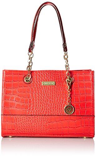 Anne Klein Coast IS Clear SM Tote Bag,Poppy,One Size