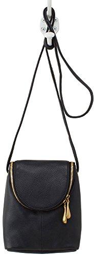 Hobo Supersoft Leather Fern Crossbody Bag – Black