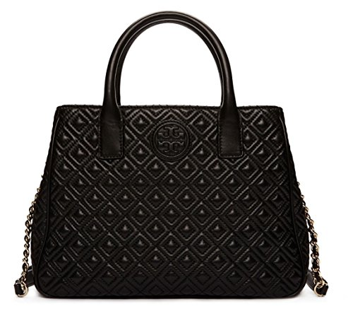 Tory Burch Marion Quilted Tote Bag Black $525.00