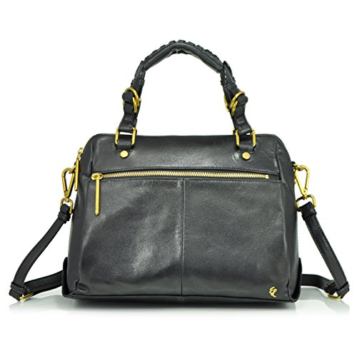 Elliott Lucca Olvera Satchel Top Handle Bag, Black