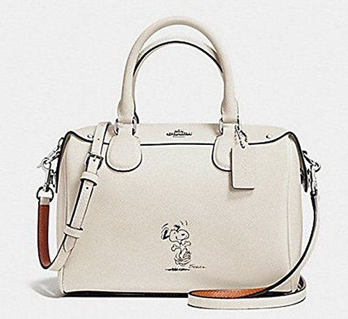 0e85fb055c93 Coach X Peanuts Snoopy Mini Bennett F37272 Chalk Satchel Limited