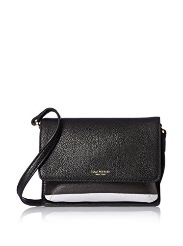 Isaac Mizrahi Women's Wendy Cross-Body, Black/White Stripe