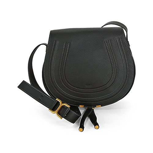 Chloe Marcie Black Leather Crossbody 3S0905-161-1