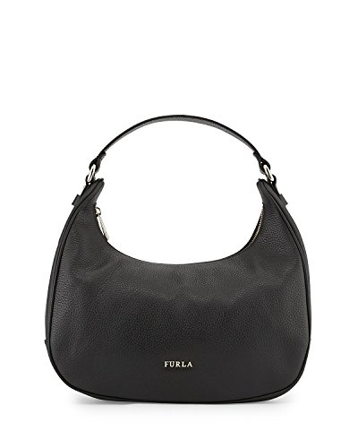 Furla Giada Leather Hobo Shoulder Bag, Onyx
