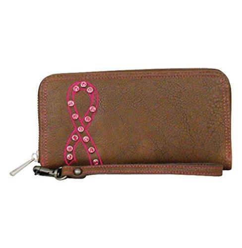 Catchfly Western Wallet Women Layla Wristlet Chocolate Brown 1500215W