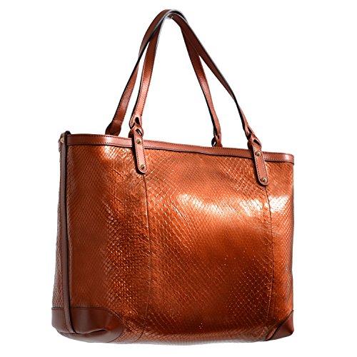 Gucci Women's Bronze Snake Skin Tote Shoulder Bag Handbag Bag