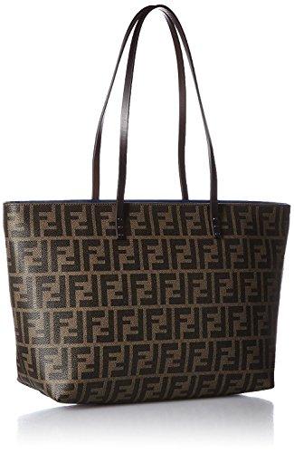 FENDI Zucca pattern 8BH198-00G87/F0QT2 Leather Tote Bag