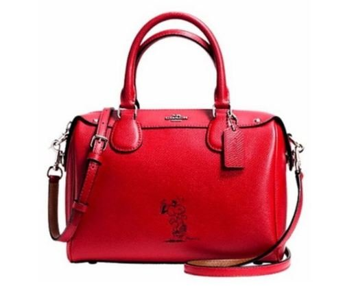 Beautiful Authentic Coach Limited Edition Peanuts Snoopy Classic Red Satchel
