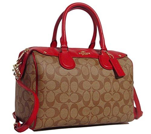 Coach Signature Bennett Satchel Tote Bag Handbag