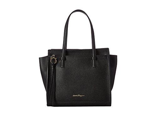Ferragamo Amy Leather Handbag – Nero