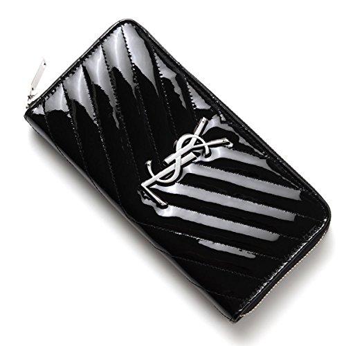 SAINT LAURENT PARIS zip-around long wallet [With coin purse] MONOGRAM SAINT LAURENT LEATHER NERO Black 358094 cr116 1000